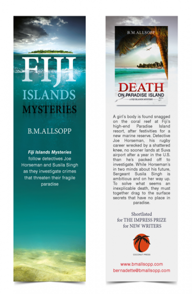 Bookmark design at Marydes bookcoverdesigns.eu