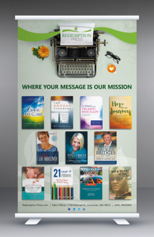 Roll-up banner by MaryDes at bookcoverdesigns.eu.