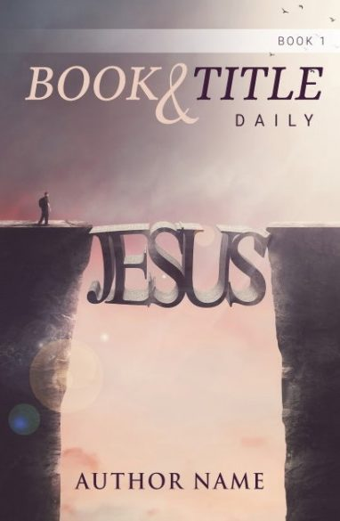 Jesus is the bridge and connects. Book cover design created by MaryDes and available at bookcoverdesigns.eu.