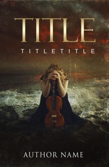 The violin player. Book cover design created by MaryDes and available at bookcoverdesigns.eu.