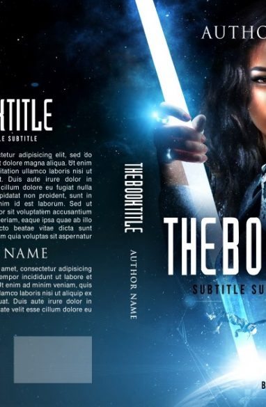A space adventure. Book cover design created by MaryDes and available at bookcoverdesigns.eu.